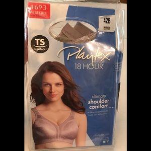 Playtex Intimates & Sleepwear - Playtex   18 Hour Bra Taupe 42B